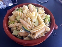 http://www.diaryofasaucepot.com/2014/09/quick-creamy-courgette-broccoli-pasta.html