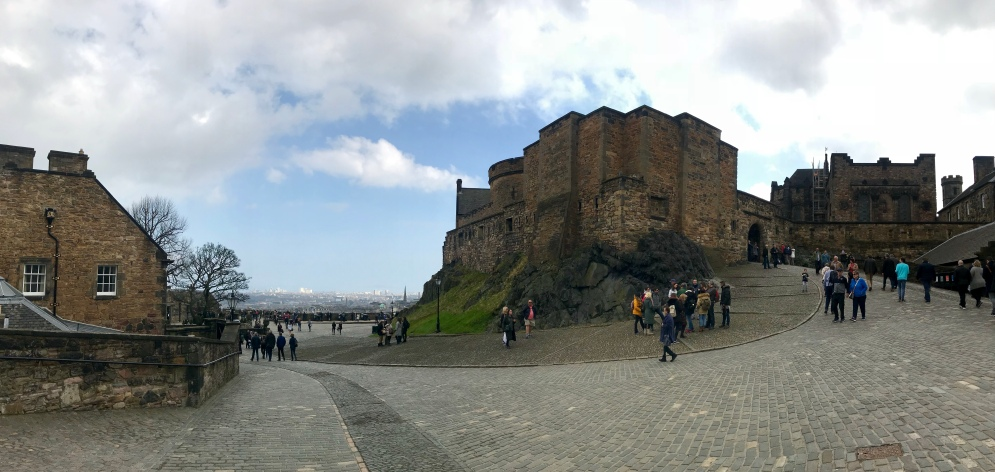 Panoramic view of the castle and the city