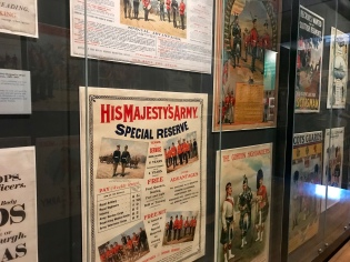 Recruitment posters on display in The National War Museum