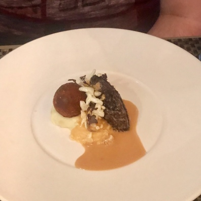 Haggis, neeps and tatties with whisky sauce