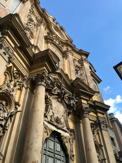 The facade of one of the churches we found