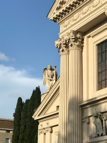 An angel watching over the streets of Rome